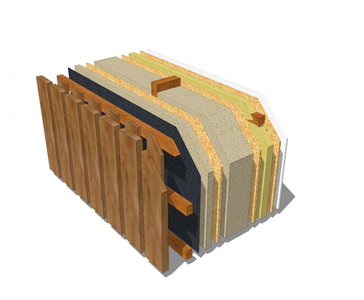 1_Eco konštrukcia s dreveným obkladom